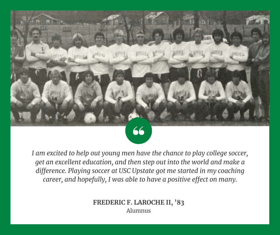 USC Upstate Inaugural Men's Soccer Team